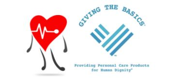 Photo of a heart and the giving the basics logo