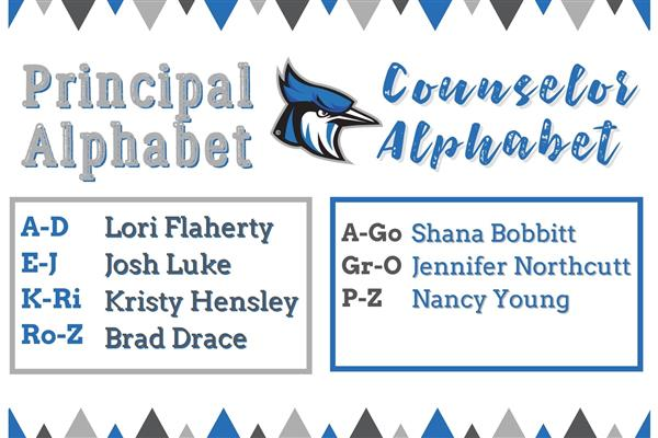 Principals and Counselor By Alphabet