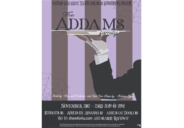 Addams Family production poster