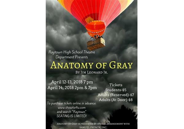 Raytown High School Theatre Department Presents Anatomy of Gray