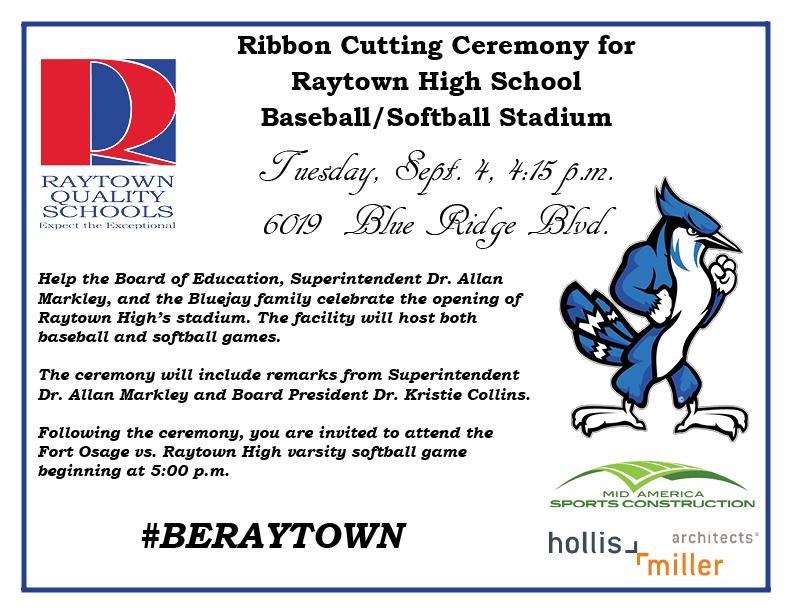 Raytown High School Baseball Softball Stadium Ribbon Cutting Ceremony