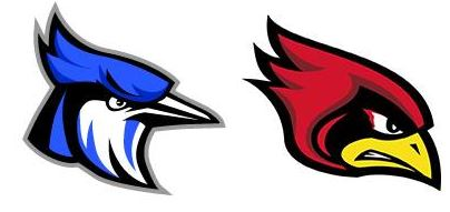 bluejay and cardinal