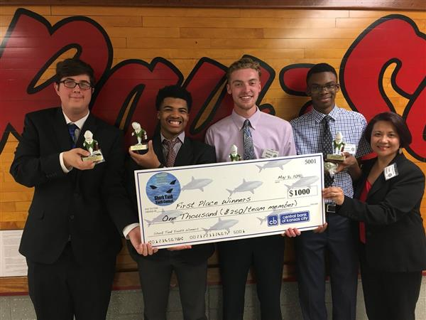 Raytown South High School Students Earn First Place in Local Shark Tank Competition